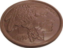 Chocolate Indian Head Coin Large - Click Image to Close