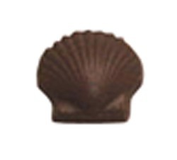 Chocolate Clam Shell Scalloped Medium