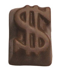Chocolate Dollar Sign Small