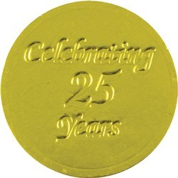 Celebrating 25 Years Chocolate Coin