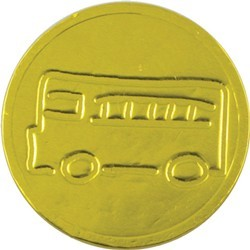 School Bus Chocolate Coin - Click Image to Close