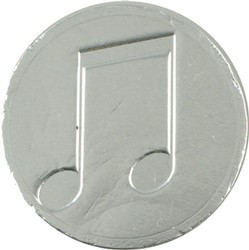 Music Note Chocolate Coin