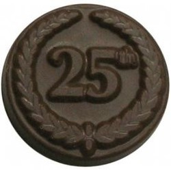 Chocolate 25th Anniversary Round with Crest