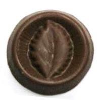Chocolate Leaf Small Round
