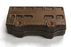 Chocolate Double Decker Bus 3D Small