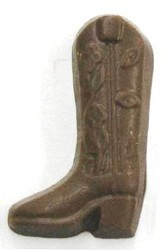 Chocolate Cowboy Boot - Click Image to Close