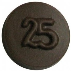 Chocolate 25th Anniversary Round Plain