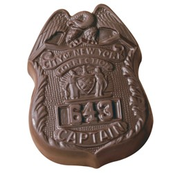 2 oz Custom Chocolate Police Badge Service Shield - Click Image to Close