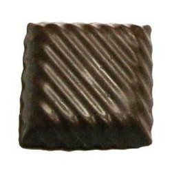 Chocolate Candy Square w/ Ridges