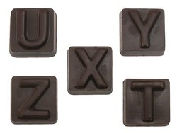 Chocolate Alphabet Block Letters A-Z