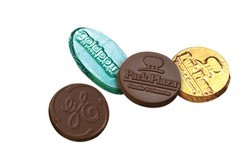 "1.75"" Round/Oval Custom Molded Chocolate"