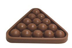 Chocolate Pool Table Rack w/ Pool Balls