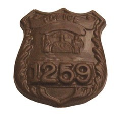 Chocolate Police Badge - Click Image to Close