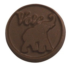 "Chocolate Elephant and Donkey Round ""Vote"""