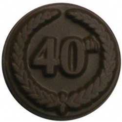 Chocolate 40th Anniversary Round with Crest - Click Image to Close