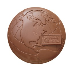 2 lb Custom Chocolate Globe Earth or Planet - Click Image to Close