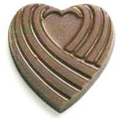Chocolate Heart Ribbed