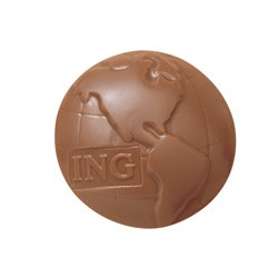 1.5 oz Custom Chocolate Globe Earth or Planet