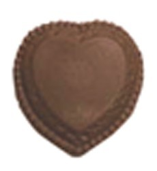 Chocolate Heart Large w/Scallops