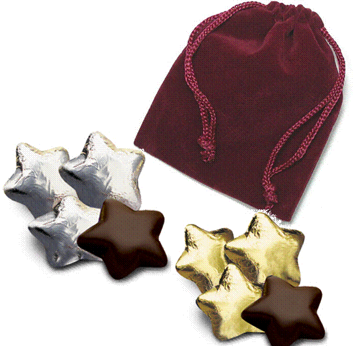 5-pc Star Velvet Bag