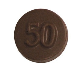 Chocolate 50th Anniversary Round Plain