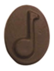Chocolate Musical Note Oval