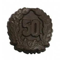 Chocolate 50th Anniversary Medium with Crest - Click Image to Close