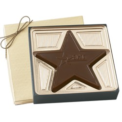 2.5 oz. Custom Chocolate Star Award - Click Image to Close