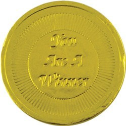 You are a Winner Chocolate Coin