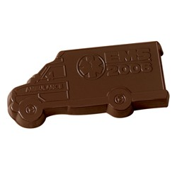 1 oz. Custom Chocolate Ambulance Cutout