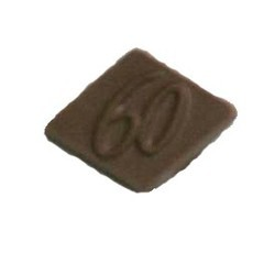 Chocolate 60th Anniversary Parallelogram