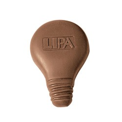 1 oz Custom Chocolate Light Bulb - Click Image to Close