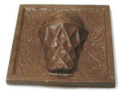 Chocolate Basketball Plaque w/ Net