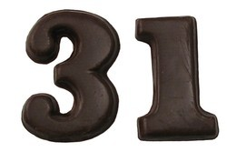 Chocolate Medium Numbers
