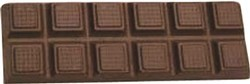 Chocolate Candy Bar Breakaway 12 pc (2X6) - Click Image to Close