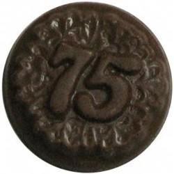 Chocolate 75th Anniversary Round Decorated - Click Image to Close