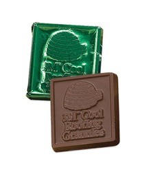 "2"" Square Custom Molded Chocolate"