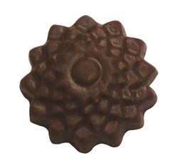 Chocolate Snow Flake Round