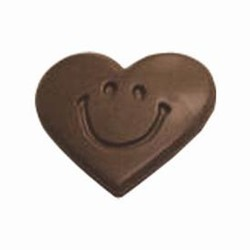 Chocolate Heart w/ Smiley Face
