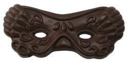 Chocolate Mardi Gras Mask on Stick Large
