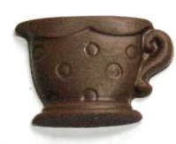 Chocolate Tea Cup Polka Dots - Click Image to Close