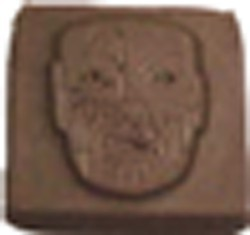 Chocolate Monster Face Square - Click Image to Close