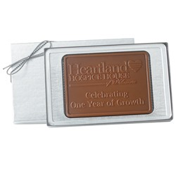 2.5 oz. Custom Chocolate Cutout Shape Rectangle