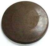 Chocolate Circle Plain Large Thick - Click Image to Close