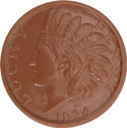 Chocolate Indian Head Coin Small - Click Image to Close