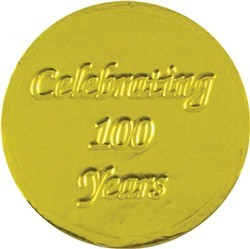 Celebrating 100 Years Chocolate Coin