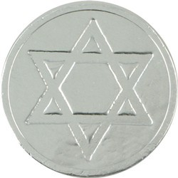 Star of David Chocolate Coin