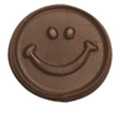 Chocolate Happy Face Round Small