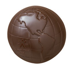 5 oz Custom Chocolate Globe Earth or Planet