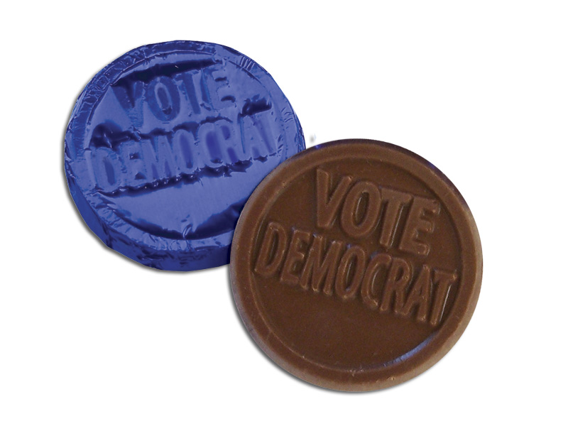 Vote Democratic Coin (Box of 250)